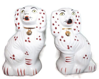 Cavalier King Charles Porcelain Dogs Reproduction Cavalier King charles Spaniel Porcelain Dogs