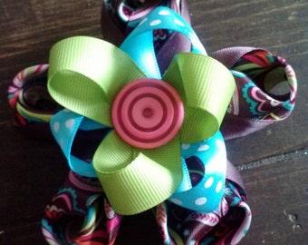 Inverted Petal Flower Hair Bow