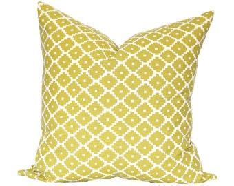 Ziggurat Chartreuse by Schumacher - designer pillow cover - apple green spring green grass green - CHOOSE YOUR SIZE