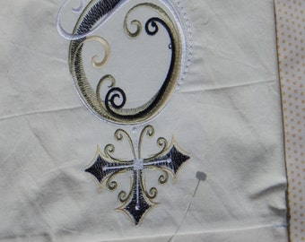 Female Symbol Embroidered Pillowcase