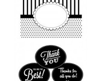 CGull 12-0020 Oval Interchangeable Embossing Folder w/Thank You Inserts