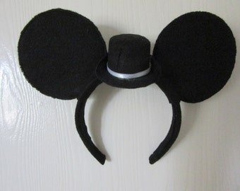 Mouse Groom Ears, Groom Mouse Ears, Top Hat Mouse Ears, Multiple Discounts