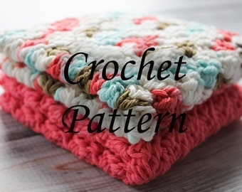 Crochet PATTERN, Washcloth Pattern/ Dishcloth / Wash Rag / Wash Cloth / Dish Cloth PDF Crochet PATTERN Instant Digital Download, Pattern #5