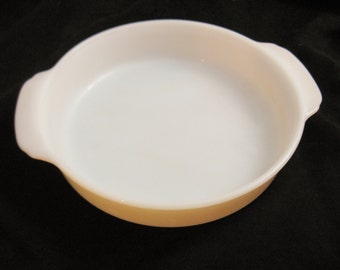 Vintage Fire King Peach Lustre Ware 8 Inch Baking Dish