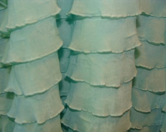 Pure Mint  Ruffle Fabric BTY