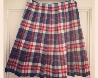 Sale* M & S Pleated Skirt 1960's - small