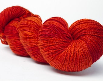 Baah La Jolla Yarn Color Orange Amber              Hand Dyed Premium Artisan Yarn!    400 Yards! Regular Price 29.00