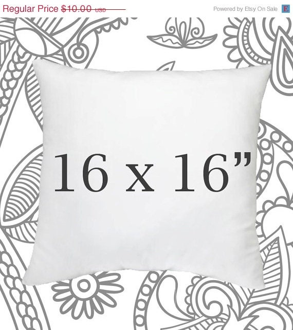 Throw Pillow Inserts 16 X 16 : SALE ENDS SOON Pillow Insert 16 x 16 Inch Pillow by LilyPillow