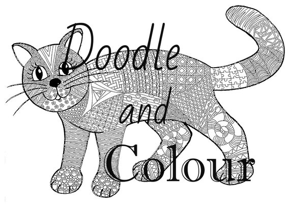grown up coloring pages cats - photo#33