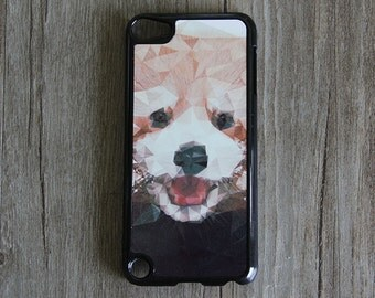 Geometric Puppy Dog iPod Touch 5 case and iPod Touch 4 Case,iTouch 5/4 Rubber Case