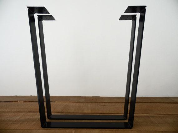 Furniture Legs Nz 28 trapezoid table legs flat steel height 26