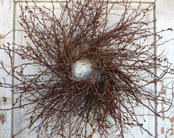 """Blueberry Twig Wreath - 26"""""""