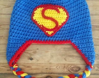 Crochet Superman Hat