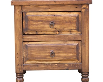 Rustic Reclaimed Nightstand 01138