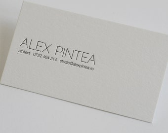 200 Custom Letterpress Business Cards