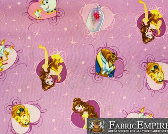 "100% Cotton Quilt Prints - Beauty And The Beast Fabrics / 45"" W / Sold by the yard"