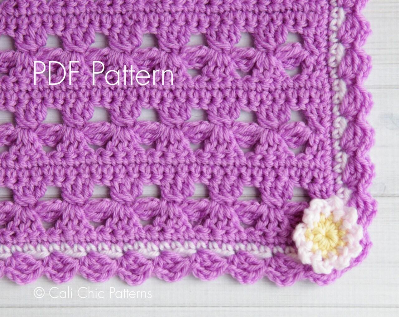 Crochet Daisy Flower Blanket Pattern : Crochet PATTERN Daisy Love Crochet Baby Blanket PATTERN 21