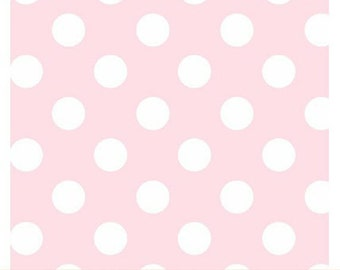 Windham Basic Pastels - Polka Dots in Light Pink - Basics Pastel Baby Pink Cotton Dot Quilt Fabric - Windham Fabrics 29395-12 (W2669)