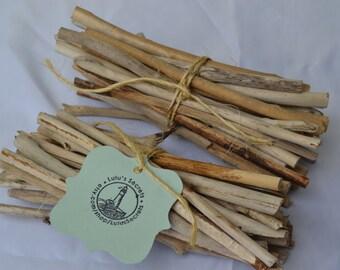 Driftwood Bundles for Craft Supply, Beach Decor, Beach Wedding, Summer Wedding (8 inches) | 25 Piece Bundles