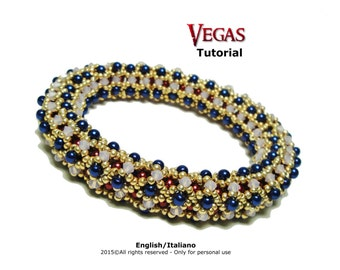 Tutorial Vegas Bangle - beading pattern