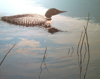 COMMON LOON PAINTING