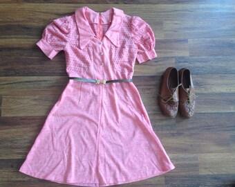 Vintage 1950's pink dress
