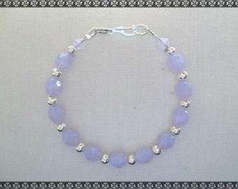 purple bracelet, light purple bracelet, Violet, milky violet