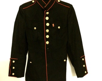Vintage Marine Jacket - Navy Blue and Red