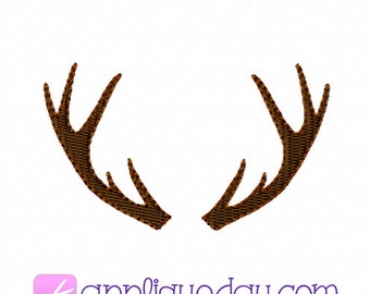 Mini Antlers, Hunter, Camo, Male, Guy, Country, Woods, Hunter, Outdoor, Embroidery, Tiny, Small, Digital, Design, Instant Download