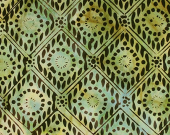 Anthology Fabrics Bali Batik 9523 Green Diamond Yardage