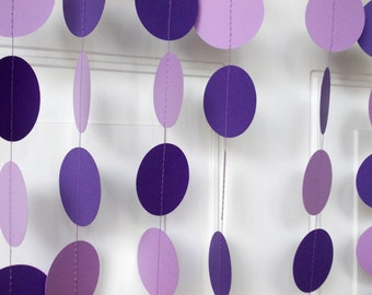 party paper garland lavender u0026 purple party decoration all occasion birthday party