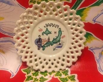 Vintage ceramic souvenir plate- Japan