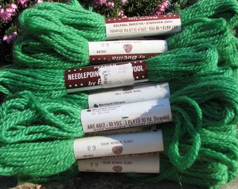 Vintage Needlepoint &Crewel Wool Yarn - Bucilla Yarn