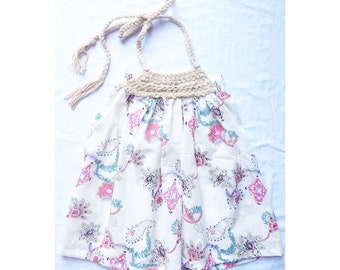 SALE!!!! Floral Crochet Pillowcase Dress