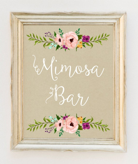 Current image with mimosa bar printable