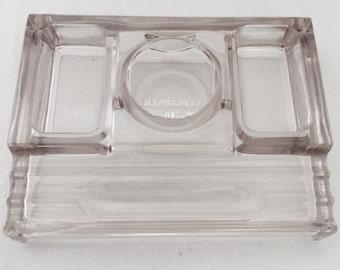 Sengbusch Clear Glass Ink Well Desk Organizer