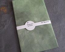 Forest Green Fat Quarter - hand dyed fabric, leaf green fabric, dark aqua fabric,emerald green fabric,spring green avocado khaki fabric 1745