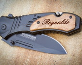 Custom Engraved Knife, MTech Folding Knife, Personalized Pocket Knife: Father's Day, Gift for Him, Groomsmen, Stocking Stuffer - 06W