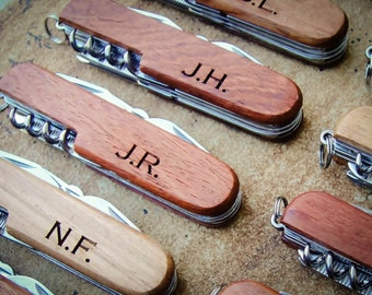Personalized Knife, Custom Knife, Engraved Knife: Groom's Gift for Him, Stocking Stuffers, Father's Day, Groomsmen, Bachelor Party - GFT1