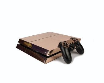PS4 PlayStation 4 Metallic Vinyl Wrap: Chrome Bronze