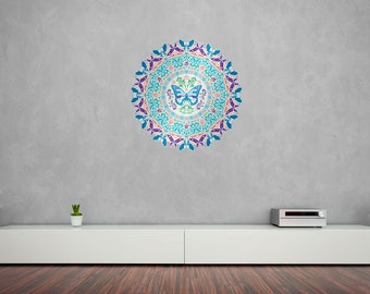 Butterfly Mandala Vinyl Wall Art