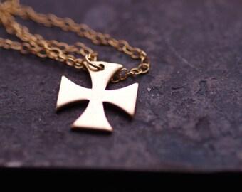 handmade 14K gold filled cross necklace, original,unique,Exclusive