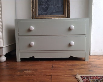 SOLD Vintage hand painted chest of drawers