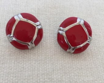 CLEARANCE SALE Vintage Red Earrings