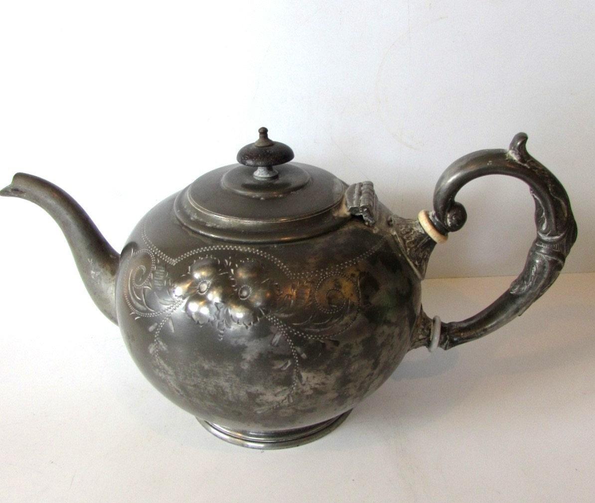 Unusual Stunning Vintage E P B M Teapot Memsartshop