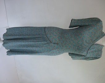 1940's Dress. Persian Turquoise.