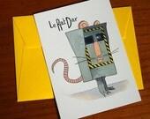 "Carte postale ""Rat-Dar"""