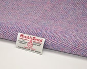Harris Tweed Fabric - Lilac herringbone