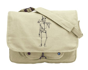 Oz - Tin Woodman Embroidered Canvas Messenger Bag