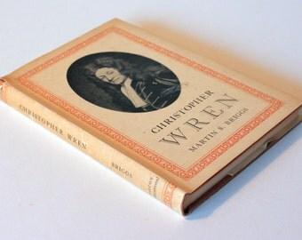 Christopher Wren Vintage Book 1951 hardback guide historical Biography